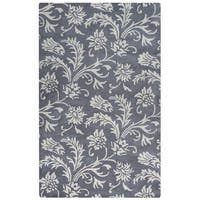 Arden Loft Crown Way Grey/ Ivory Floral Hand-tufted Wool Area Rug (10' x 14')
