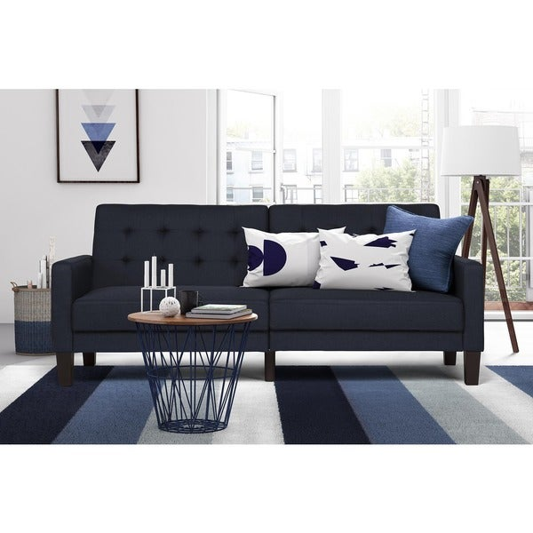 Dhp Navy Paris Futon Free Shipping Today Overstock Com
