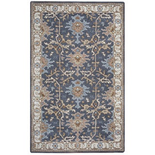 Arden Loft Crown Way Charcoal Grey/ Beige Oriental Hand-tufted Wool Area Rug (5' x 8')