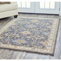 Rizzy Home Arden Loft Crown Way Grey/Khaki Oriental Handmade Wool Area Rug - 8' x 10'