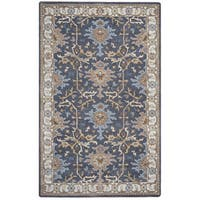 Arden Loft Crown Way Grey/ Beige Oriental Hand-tufted Wool Area Rug (9' x 12')