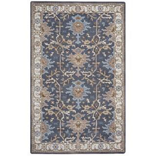 Arden Loft Crown Way Grey/ Beige Oriental Hand-tufted Wool Area Rug (9' x 12')