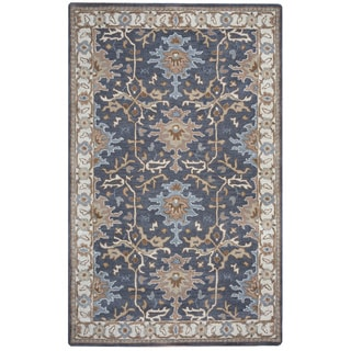 Arden Loft Crown Way Charcoal Grey/ Beige Oriental Hand-tufted Wool Area Rug (10' x 14')