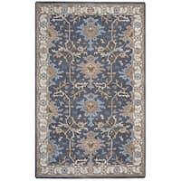 Arden Loft Crown Way Charcoal Grey/ Beige Oriental Hand-tufted Wool Area Rug (10' x 14')