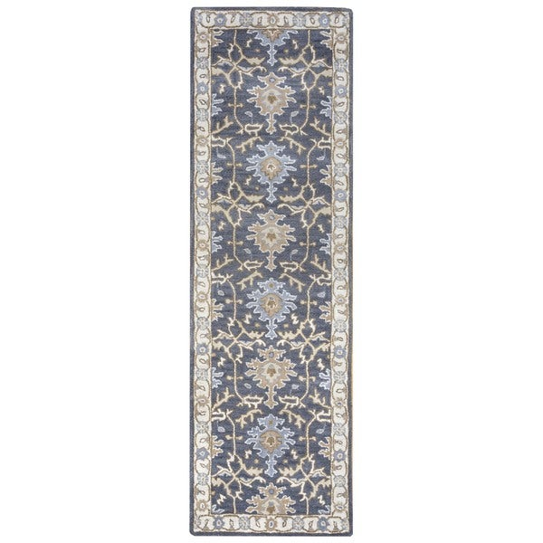 Hand Knotted Persian Style Wool Pile Area Rug: Shop Arden Loft Crown Way Grey/ Beige Oriental Hand-tufted