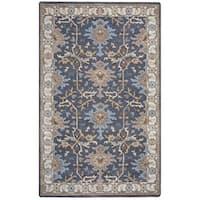 Arden Loft Crown Way Grey/ Beige Oriental Hand-tufted Wool Area Rug (2'6' x 10')