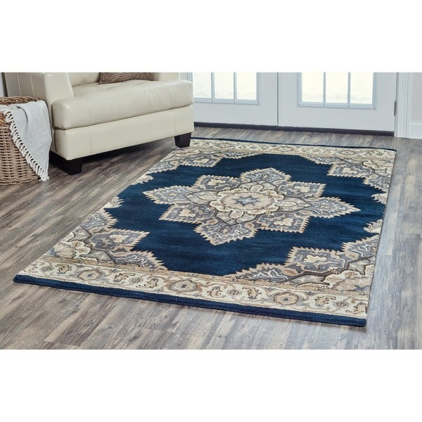 Navy Blue Wool Area Rugs Goedkooptas