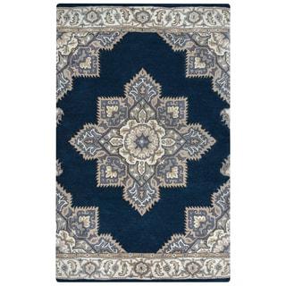Arden Loft Crown Way Indigo Blue/ Shades of Navy Blue Oriental Hand-tufted Wool Area Rug (10' x 14')