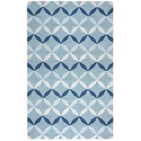 Arden Loft Easley Meadow Blue/ Grey Geometric Hand-tufted Wool Area Rug - 8' x 10'