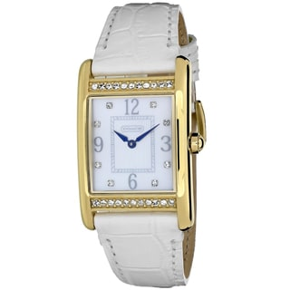 Coach Women's 14501717 Lexington Rectangle White Leather Strap Watch