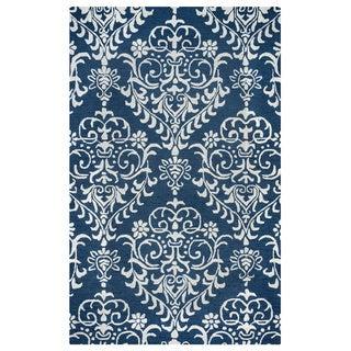 Arden Loft Falmouth Fields Indigo/ Beige Floral Hand-tufted Wool Area Rug (8' x 10')