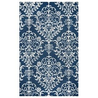 Arden Loft Falmouth Fields Indigo/ Beige Floral Hand-tufted Wool Area Rug (10' x 14')