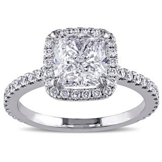 Miadora 19k White Gold 2 1/2ct TDW Diamond Ring
