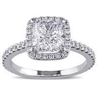 Miadora 19k White Gold 2 1/2ct TDW Diamond Ring