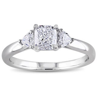 Miadora Signature Collection 14k White Gold 1ct TDW Diamond Three Stone Ring (G-H, I1-I2)