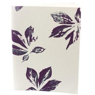 Violet Maple Leaf Handmade Journal (India)