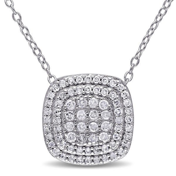 Miadora Sterling Silver 1/2ct Necklace