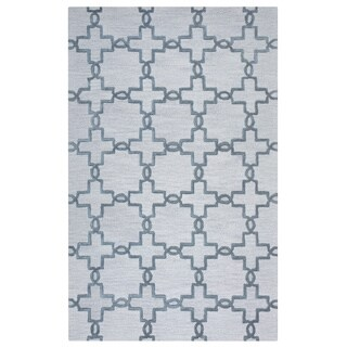 Arden Loft Lisbon Corner Beige/ Light Grey Geometric Hand-tufted Wool Area Rug (2'6' x 10')