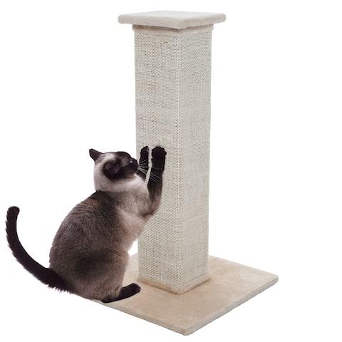 Petmaker Sisal Burlap Cat Scratching Post - Brown