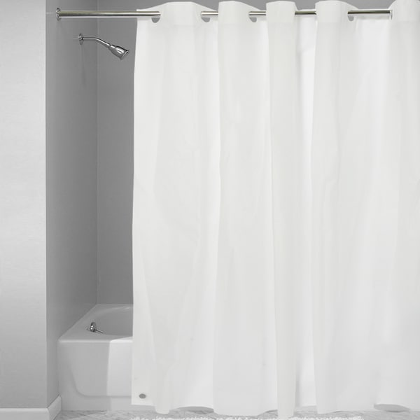 Shop Easy On Shower Curtain Liner With Built In Hooks On Sale