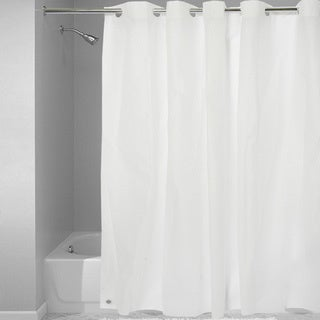 Easy On Shower Curtain/Liner with Built in Hooks