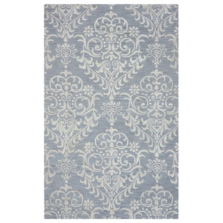 Arden Loft Falmouth Fields Grey/ Ivory Floral Hand-tufted Wool Area Rug (10' x 14')