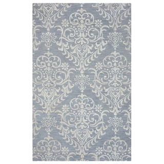 Arden Loft Falmouth Fields Grey/ Ivory Floral Hand-tufted Wool Area Rug (9' x 12')