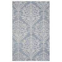 Arden Loft Falmouth Fields Grey/ Ivory Floral Hand-tufted Wool Area Rug - 9' x 12'