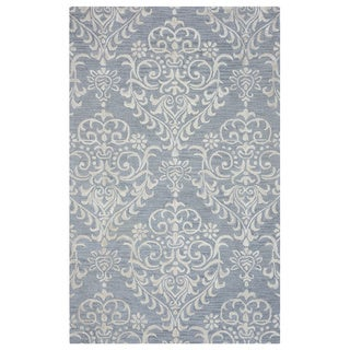 Arden Loft Falmouth Fields Grey/ Ivory Floral Hand-tufted Wool Area Rug (5' x 8')