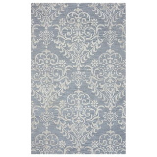Arden Loft Falmouth Fields Grey/ Ivory Floral Hand-tufted Wool Area Rug (8' x 10')
