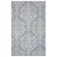 Arden Loft Falmouth Fields Grey/ Ivory Floral Hand-tufted Wool Area Rug (8' x 10') - 8' x 10'