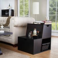 Clay Alder Home Verrazano Modern Tiered Storage End Table