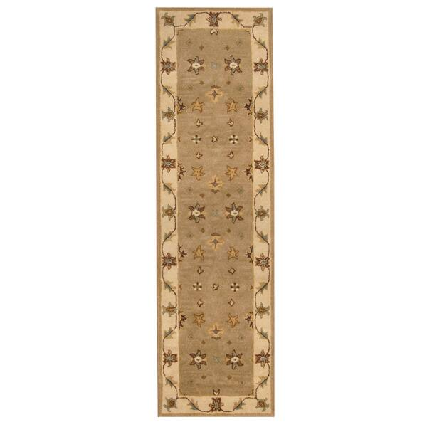Herat Oriental Indo Hand-tufted Mahal Wool Runner (2'4 x 8') - 2'4 x 8'