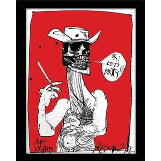 Ralph Steadman 'Ok Let's Party' Framed Poster Print