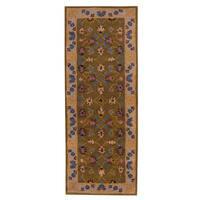 Herat Oriental Indo Hand-tufted Mahal Wool Runner (2'4 x 6')