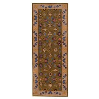 Herat Oriental Indo Hand-tufted Mahal Wool Runner - 2'4 x 6'