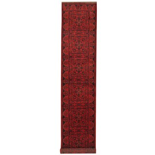 Herat Oriental Afghan Hand-knotted Tribal Khal Mohammadi Wool Runner (2'7 x 15'10) - 2'7 x 15'10