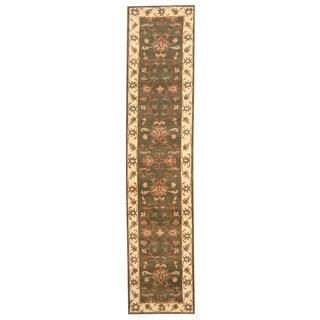 Handmade Herat Oriental Indo Mahal Wool Runner (India) - 2'7 x 12'