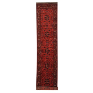 Herat Oriental Afghan Hand-knotted Tribal Khal Mohammadi Wool Runner (2'8 x 15'10)