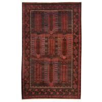 Handmade Herat Oriental Afghan Tribal Balouchi Wool Rug  - 5'10 x 9'5 (Afghanistan)