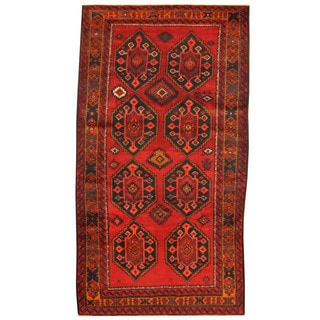 Herat Oriental Afghan Hand-knotted Tribal Balouchi Wool Rug (5'5 x 9'10)