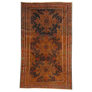 Herat Oriental Afghan Hand-knotted Tribal Balouchi Wool Rug (5'1 x 8'6)
