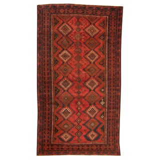 Herat Oriental Afghan Hand-knotted Tribal Balouchi Wool Rug (5'5 x 9'9)