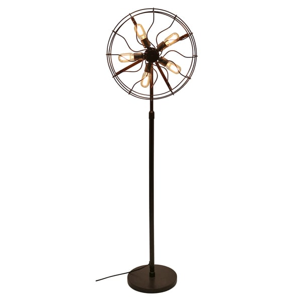 Ozzy Industrial Vintage Fan Floor Lamp - Free Shipping Today ...