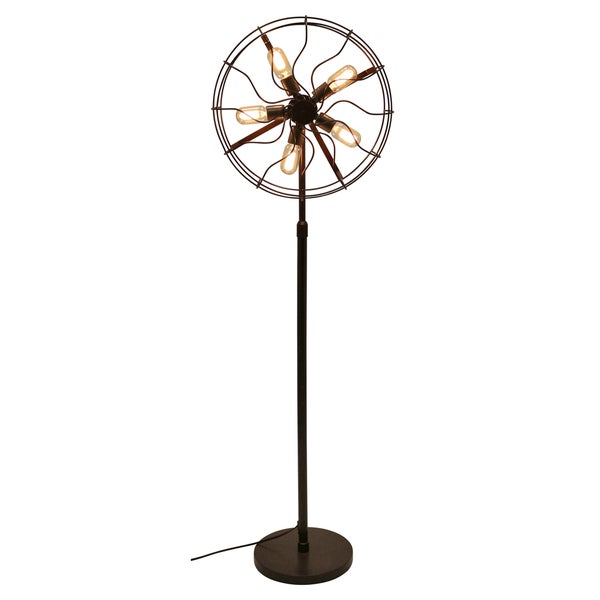 Floor Fans With Light : Ozzy industrial floor lamp free shipping today