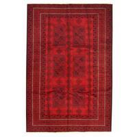 Herat Oriental Afghan Hand-knotted Tribal Balouchi Wool Rug (6'2 x 9'3) - 6'2 x 9'3