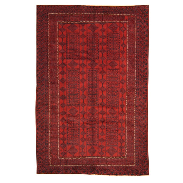 Herat Oriental Afghan Hand-knotted Tribal Balouchi Wool Rug (6'8 x 10')