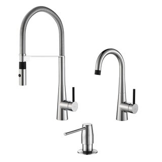 Kraus Crespo Flex Commercial Style Kitchen & Bar/Prep Faucet w/ SD