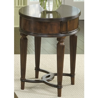 Regent Park Cherry Oval Chair Side Table