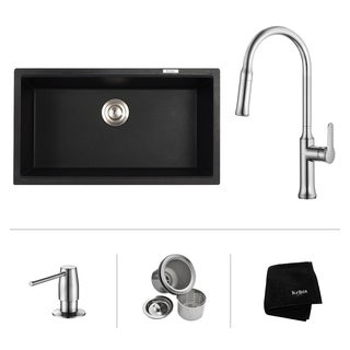 Kraus 31-inch Undermount Single Bowl Sink w/ Pull Down Faucet